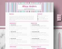 Creative Resume Template for Ms Word & Pages - Alissa