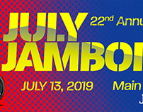 Billboard for the 22nd Annual July Jamboree