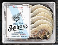 Shrimps label design