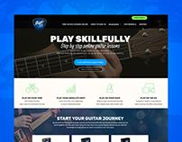 Studio33Guitar Wireframe & Wordpress Theme