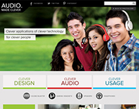 Creative Labs Microsite - Audio Made Clever