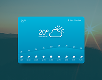 Daily UI - Day 037 - Weather