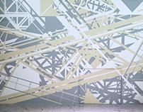 Tape Art Installation für EUREF (Berlin, 2015)