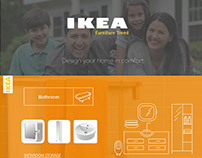 IKEA furniture icons and brochures