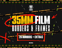 35mm Film Borders & Frames (Basic Pack)