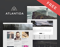 Free Creative One Page Website Template in PSD