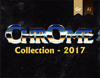 Chrome and Retro Logo Collection 2017