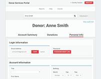 Donor Services App Design