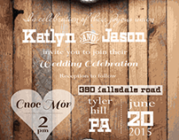 Wedding Invitation - Rustic Theme