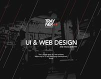 Trayner Gym - Logo, UI and Web Design