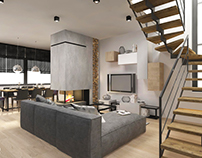 interior design ~ two-storey apartment in Krakow