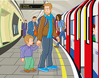 Children's Traffic Club London illustrations