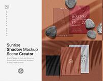 Sunrise Shadow Mockup Scene Creator