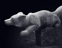 ten carved animals for nature education trail Kačín