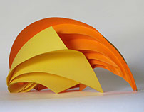 Paper Sculpture as award or table centrepiece at events
