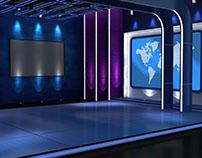 3D Set for Entertainment News (Virtual)