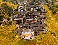 Aerial Longsheng Autumn Color - 龍勝