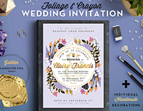 Foil & Crayon Wedding Invite III