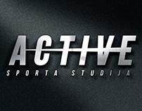 ACTIVE sport studio logo rebranding