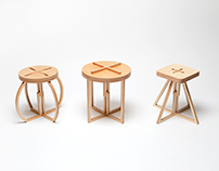 Line Stool and Table Set