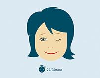 Eye-training animations