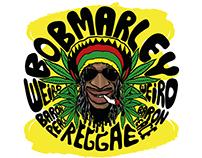 Bob Marley Linocut Design
