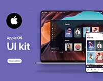 Apple OS Future UI Kit - Music Edition