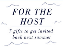 Email Newsletter: For the Host