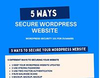 5 ways secure wordpress website - Infographics