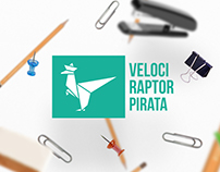 Velociraptor Pirata | Redesenho de Marca