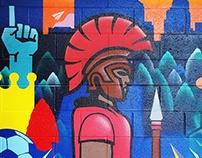 Antioch Spartan KC mural