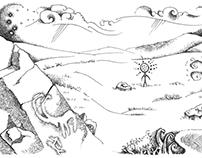 СТЕПЬ  серия иллюстраций специально для Green Salvation