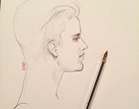 Justin Bieber-pen portrait