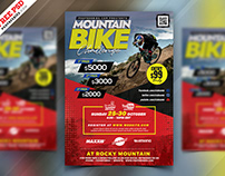 Mountain Bike Rally Event Flyer PSD