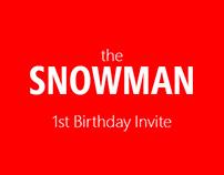 Snowman Themed Birthday Invite