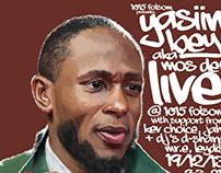 Yasiin Bey (aka Mos Def) Gig Poster