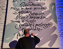 Live calligraphy performance for Mercedes-Benz Italia