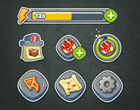 Casual game icons and bars