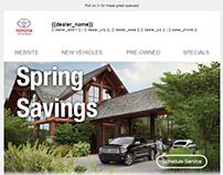 Toyota OEM Email Design