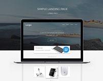Simple Landing page ( FREE PSD )