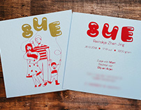 Illustration: Screen Printed cards for Sue
