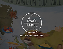 Geni's Table Restaurant Painting