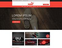 E-Commerce web Template Design