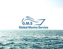 Logo designcompany Global Marine Service.