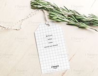 avor Tag with String & Herb MockUp