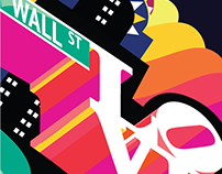 Mural for MOXY Times Square hotel by Marriott