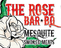The Rose BarBQ Sign