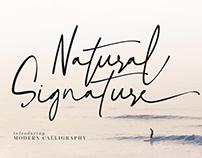 FREE FONT   Natural Signature