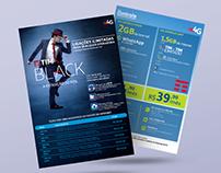 Mídia Impressa - Tim Black / Mix Telecom