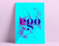 Surrender the ego Poster Design